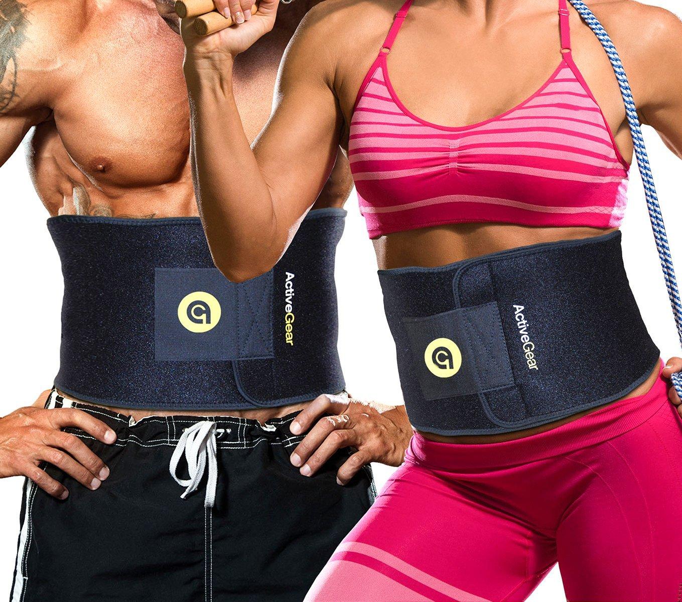 587fed6841 ActiveGear Premium Waist Trimmer Belt Slim Body Wrap. CHECKOUT ON AMAZON